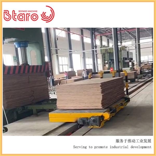 轨道平车流水线纸板运输案例